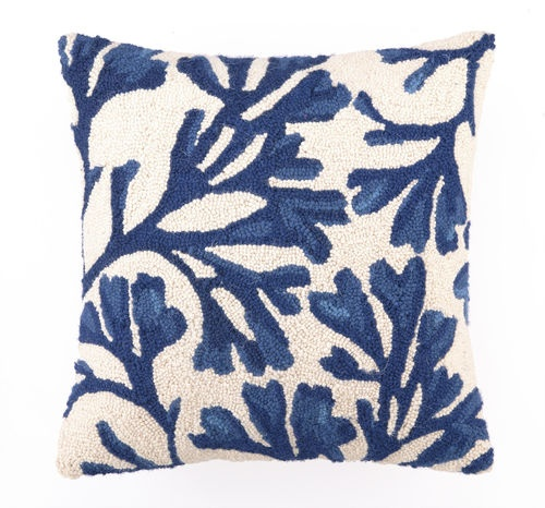 Bonnie Midnight Blue Hooked Beach Pillow buy at Blue Barnacles  www.bluebarnacles...