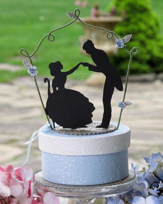 Silhouette wedding cake topper :)