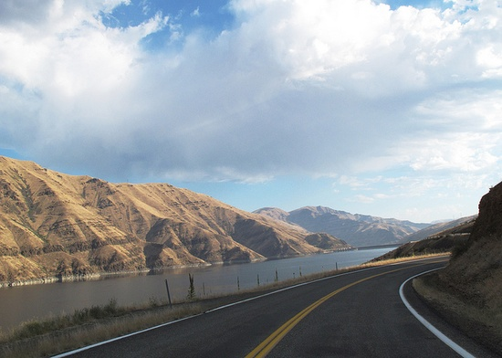 Hells Canyon near Oxbow dam by Jodene, Idaho Highway 71