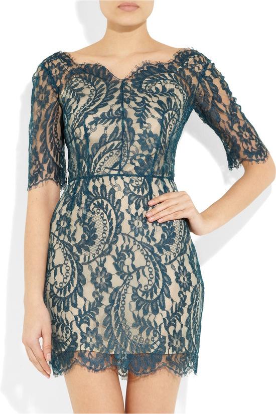 Christina lace mini dress