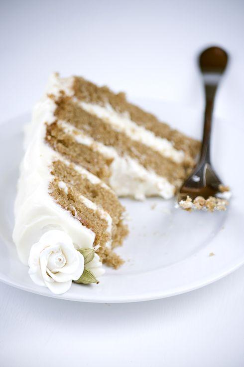 Chai cake with honey-ginger buttercream
