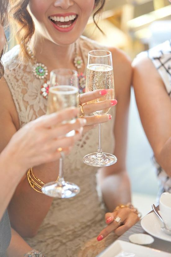 champagne cheers.