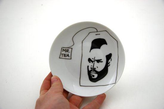 Mr T Teabag holder by LennyMud on Etsy, $10.00