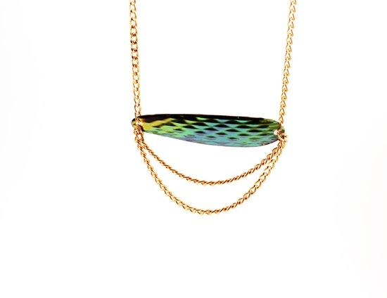 Fishing lure necklace #catch #dopefruit #jewelry