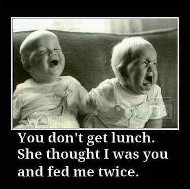 true story, right twinnard? lol... Yep true story ur right! Probs why I was the chunkier one lol