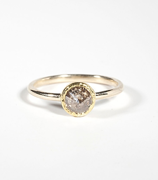 grey diamond ring by Elizabeth Street, now available @Emily Schoenfeld Moore