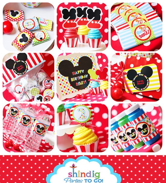 Mickey Mouse party printables set