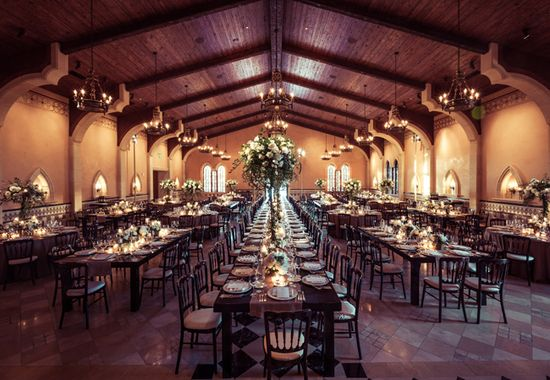 Indoor reception space // Photo: 2Me Studios // Event Design: YourBash! // blog.theknot.com/...