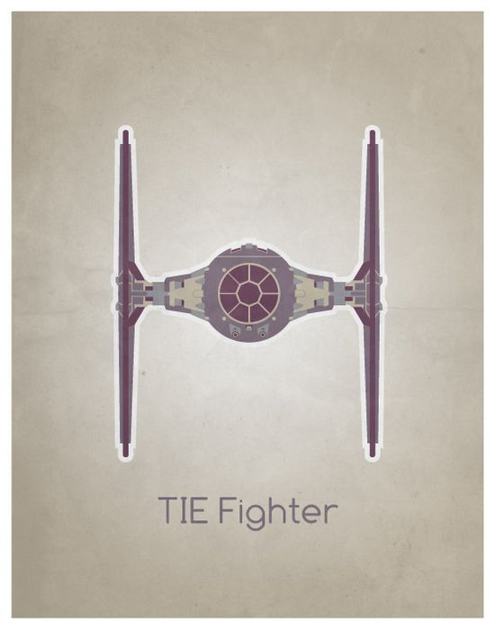 /by Noodle Hug #StarWars #illustration #Tie #Fighter