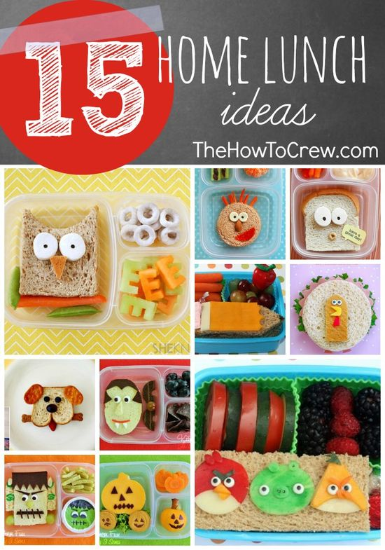 15 Back to School Home Lunch Ideas from TheHowToCrew.com.  Make a lunch your kids cant wait to eat! #school #lunch #kids