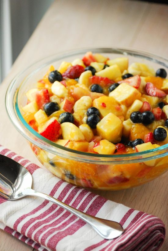 Glazed Summer Fruit Salad