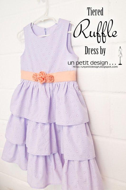 tiered ruffle dress + tutorial