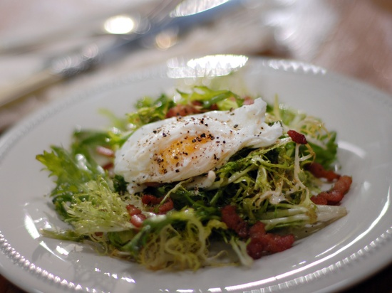 Bacon and Egg Salad from CookingChannelTV.com - Laura Calder French Food at Home