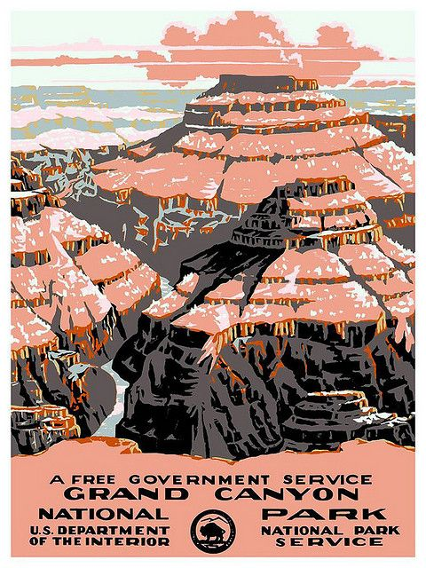 Vintage Travel Poster Grand Canyon by Kirt Baab, via Flickr
