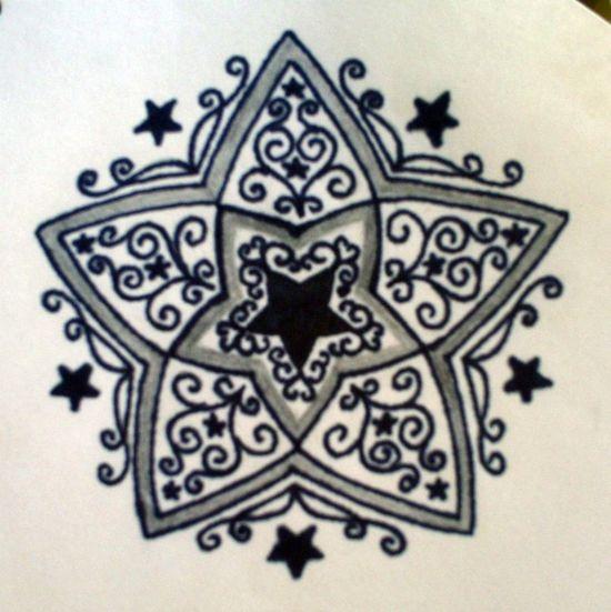 Free Star Tattoo Patterns