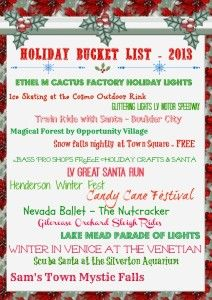 2013 Holiday Events in Vegas