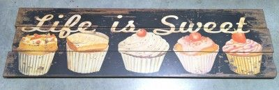 Wooden Cupcake sign