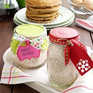 Pancakes from the Pantry Recipe from Taste of Home -- A lovely Food Gift for the breakfast lover on your list!