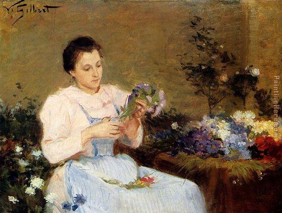 flower arranger painting