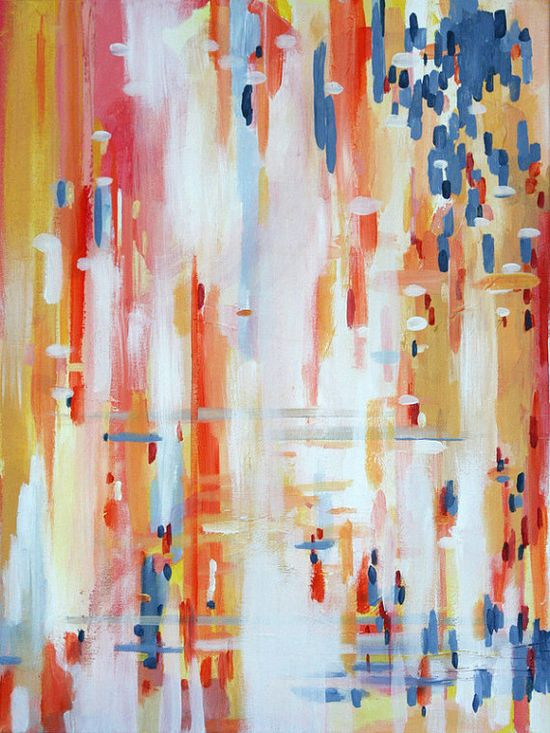 Sinnerman #abstract #coral #red #tangerine #blue #gold