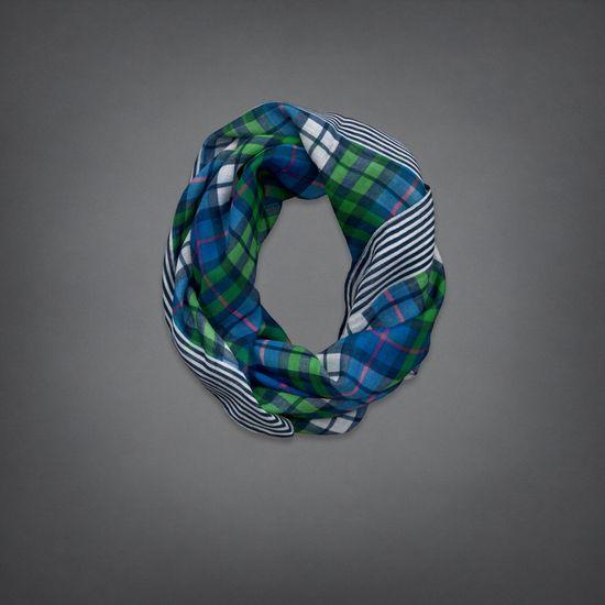 girls mixed pattern scarf