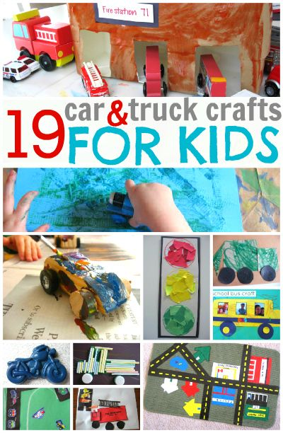 Awesome round up of car and truck crafts for kids.