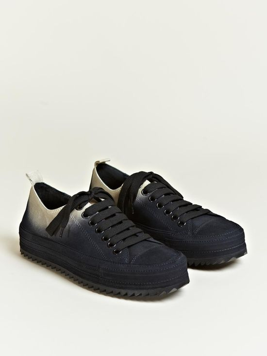 Ann Demeulemeester Men's Scamosciato Two Tone Trainers