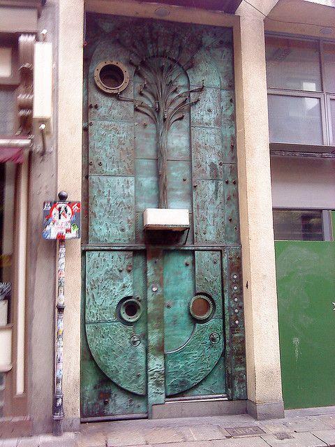 Decorative metal door. Dublin, Ireland