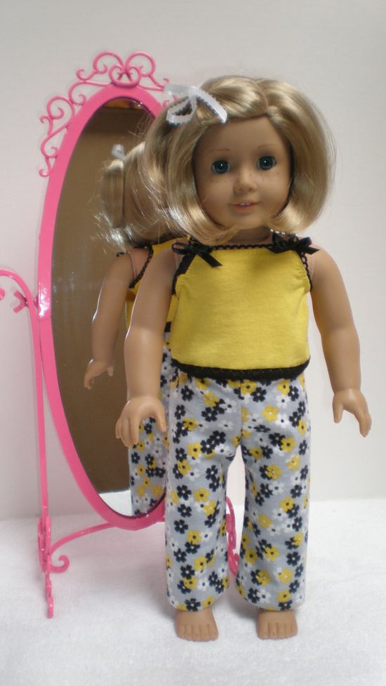 YELLOW SUMMER PAJAMAS fits American Girl 18 dolls by dollupmydoll, $15.00