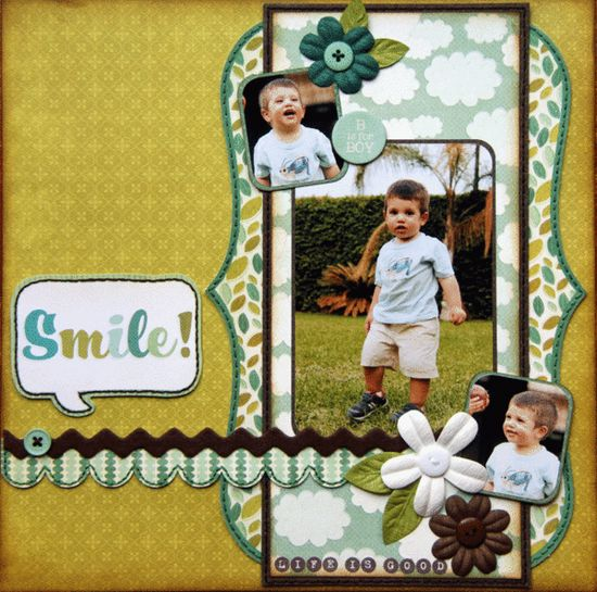 smile scrapbook page layout