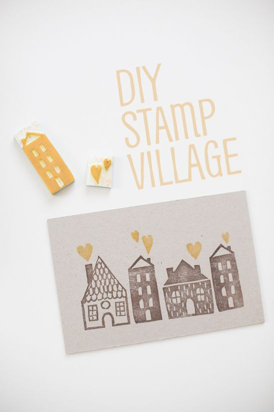 DIY stamp village