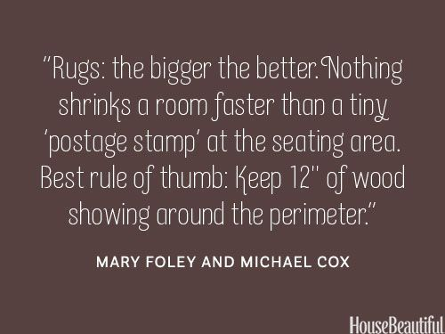 Good to know...The English Room Blog / Decorating Secrets from Top Interior Designers via House Beautiful