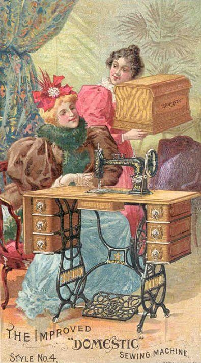Domestic sewing machine trade card