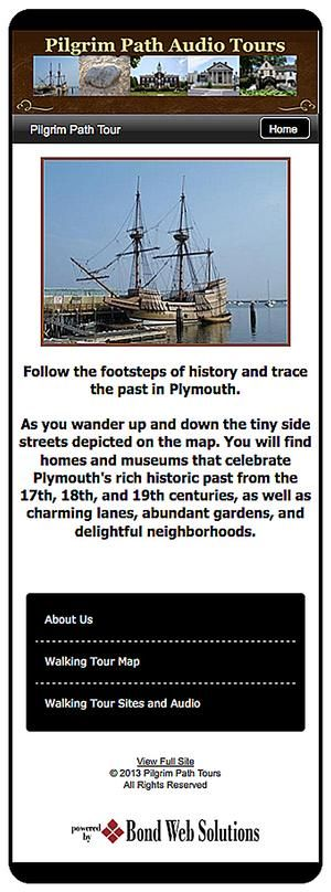 free audio and walking tours of Plymouth, smart phone app