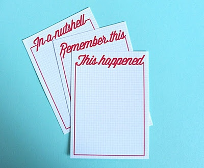 printable journaling cards, for project life also