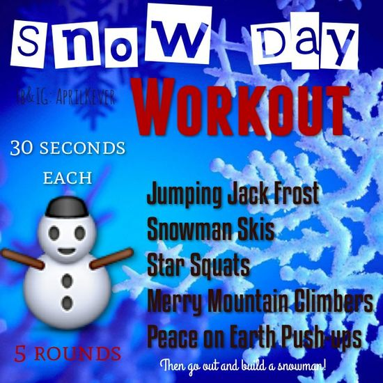 Snow day workout! #fitness #workout #exercise #motovation