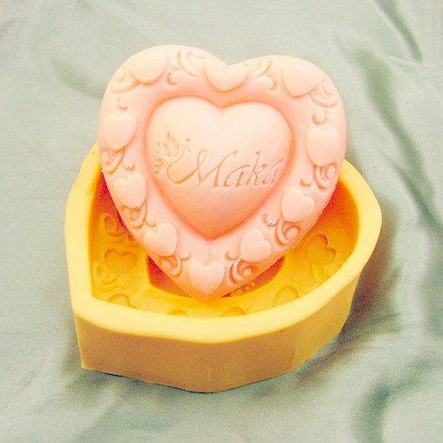 Hearts Flexible Silicone Mold/Mould For Handmade Soap by HappyDIY,