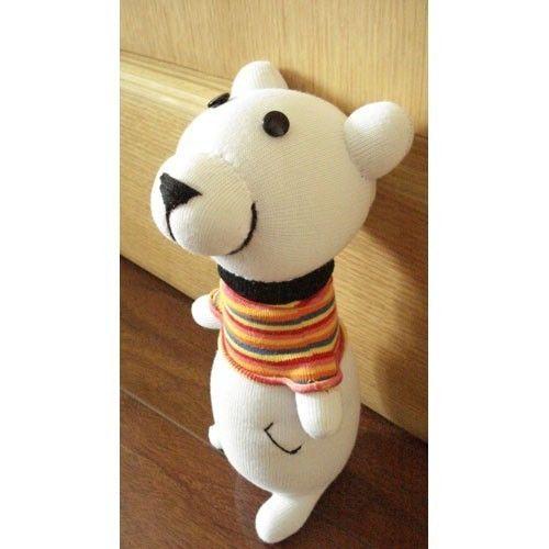 Handmade Sock Bear Stuffed Animal Doll Baby by supersockmonkeys