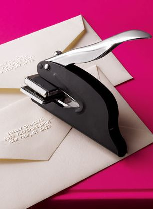 Address Embosser - So perfect for weddings invitations & Christmas cards. Only $24