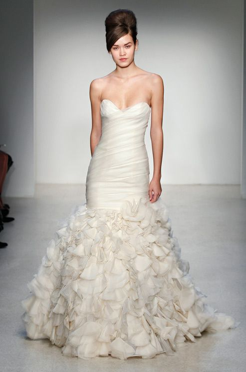Textured wedding dress from Kenneth Pool, Fall 2013...LOVE