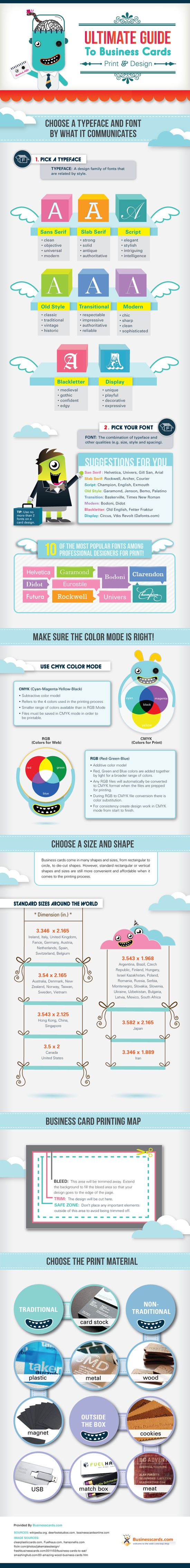 business card infographic