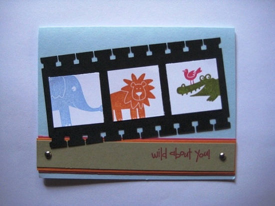 Hand Stamped  Wild About You' Card