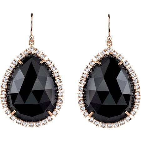 Irene Neuwirth Black Onyx & Diamond Earrings.