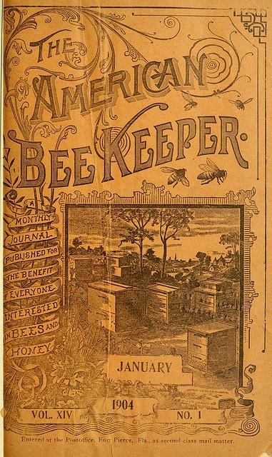 The American Bee Keeper vintage ephemera
