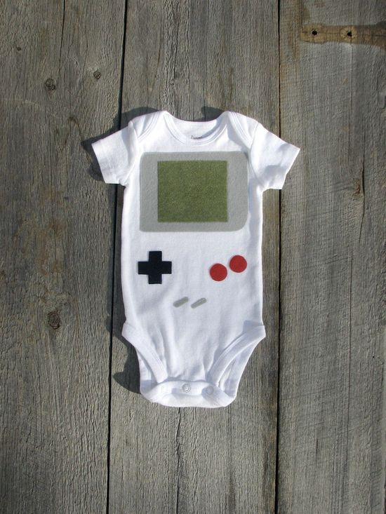 Nintendo Gameboy Baby Clothes. $22.00, via Etsy.