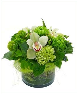 tropical green flower arrangement