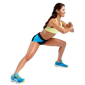 The Hip Trimmer #exercise from our Summer Slim Down #Workout works your shoulders, chest, arms, abs, butt and legs.