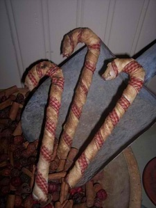 Primitive candy canes...