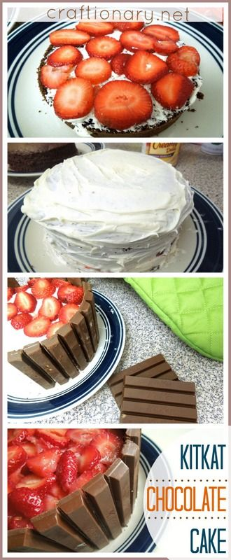 kitkat chocolate cake recipe: I should really make this for Claire on her b-day
