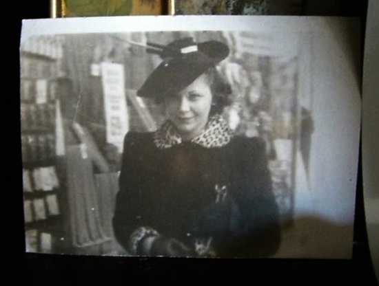 @Wink's grandmother, early 1940s. On a seemingly endless quest for that hat and that coat.